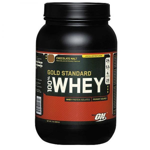 100% Whey Gold Standart (Optimum Nutrition) (28 порц / 909 гр)