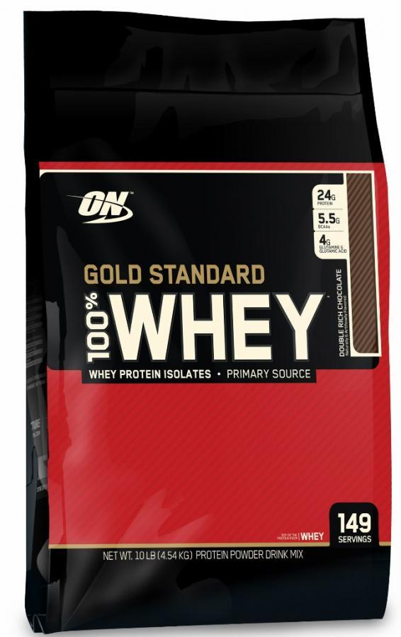 100% Whey Gold Standart (Optimum Nutrition) (152 порц / 4540 гр)