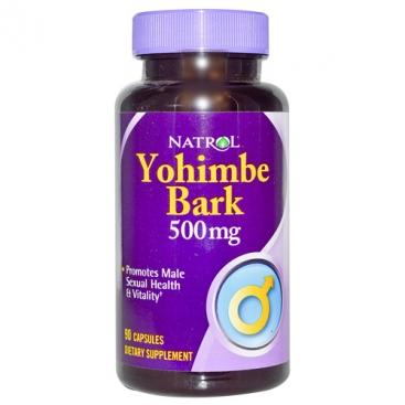 Yohimbe Bark 500 mg (Natrol) (90 капc)